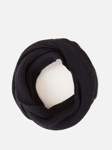 Rib Knit Infinity Scarf in Black by A/OK OOS