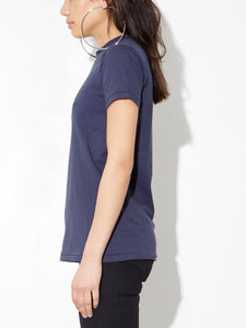Oak Tight Crew Tee In Midnight in Midnight by Oak