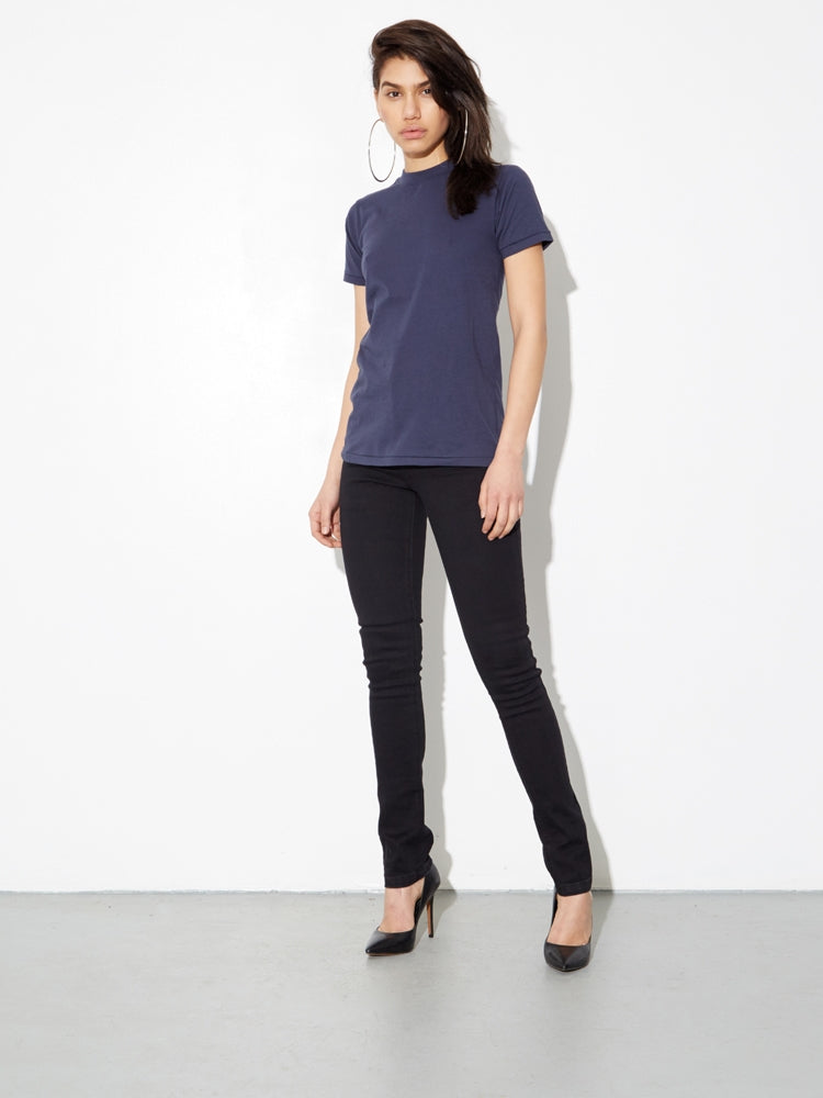 Oak Tight Crew Tee In Midnight