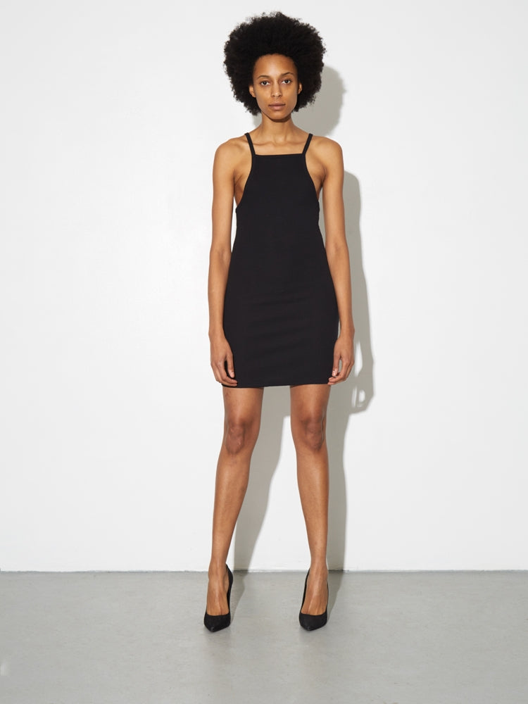 Tight Tank Dress in Black by A/OK