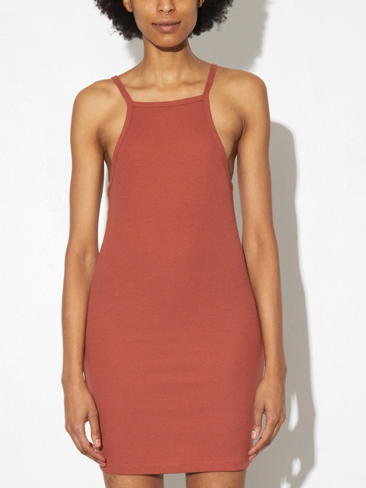 Load image into Gallery viewer, Tight Tank Dress in Redwood by A/OK