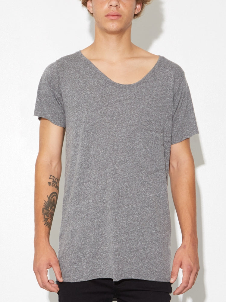 Oak Torque Tee in Heather Grey in Heather Grey by Oak