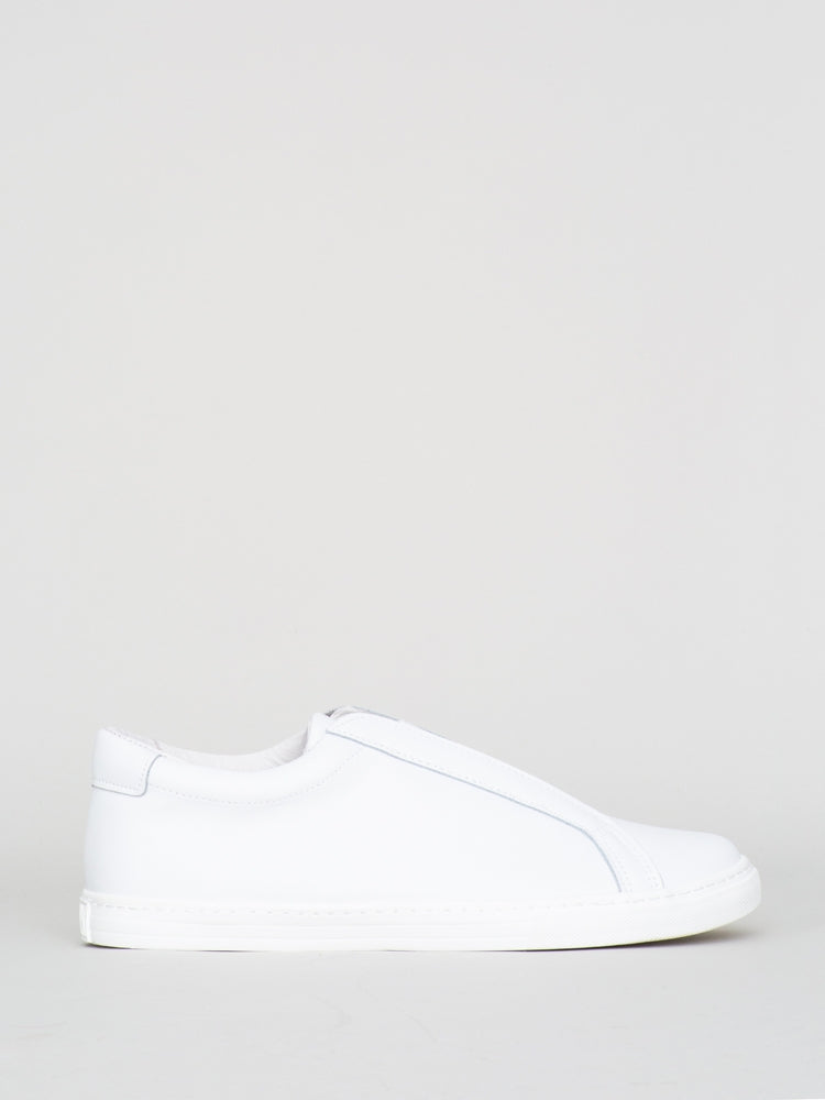 Oak Union Sneaker in white suede in White Leather by Oak