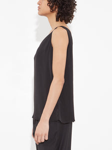 Oak V Neck Tank in Black in Black by Oak OOS