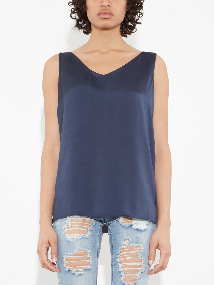 Oak V Neck Tank in River in River by Oak