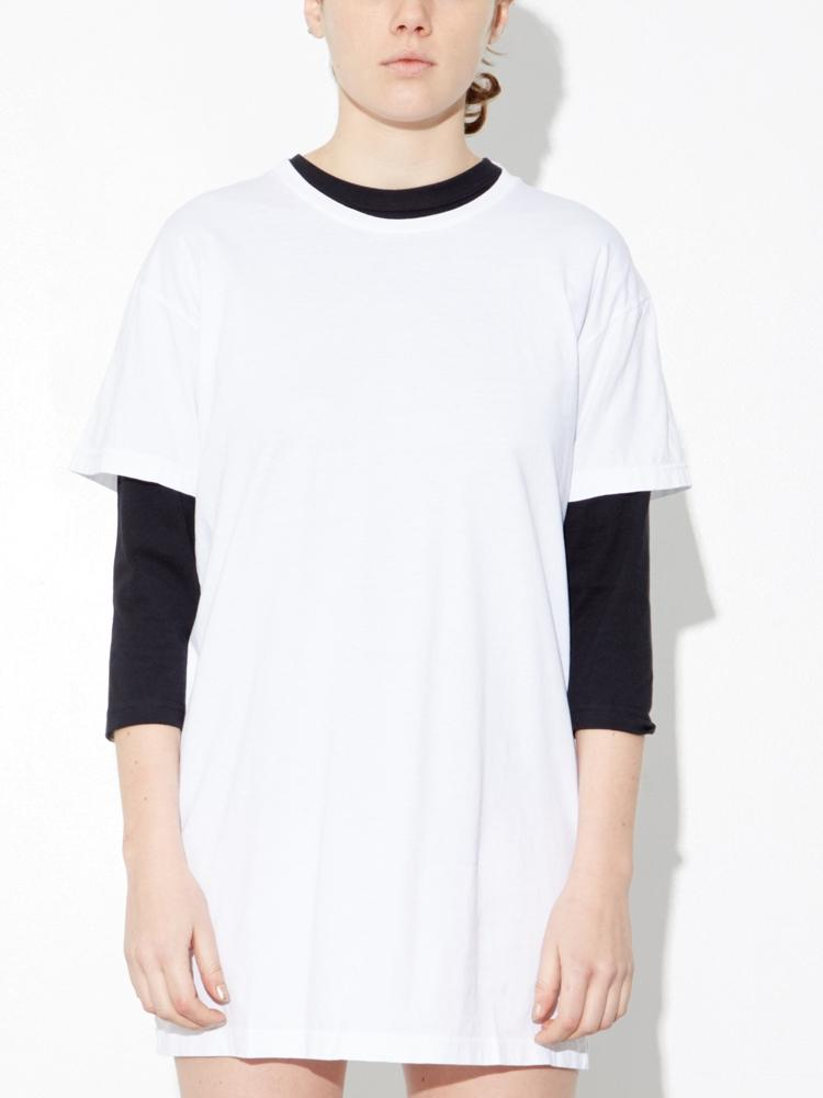 Washed Tee in White by Oak