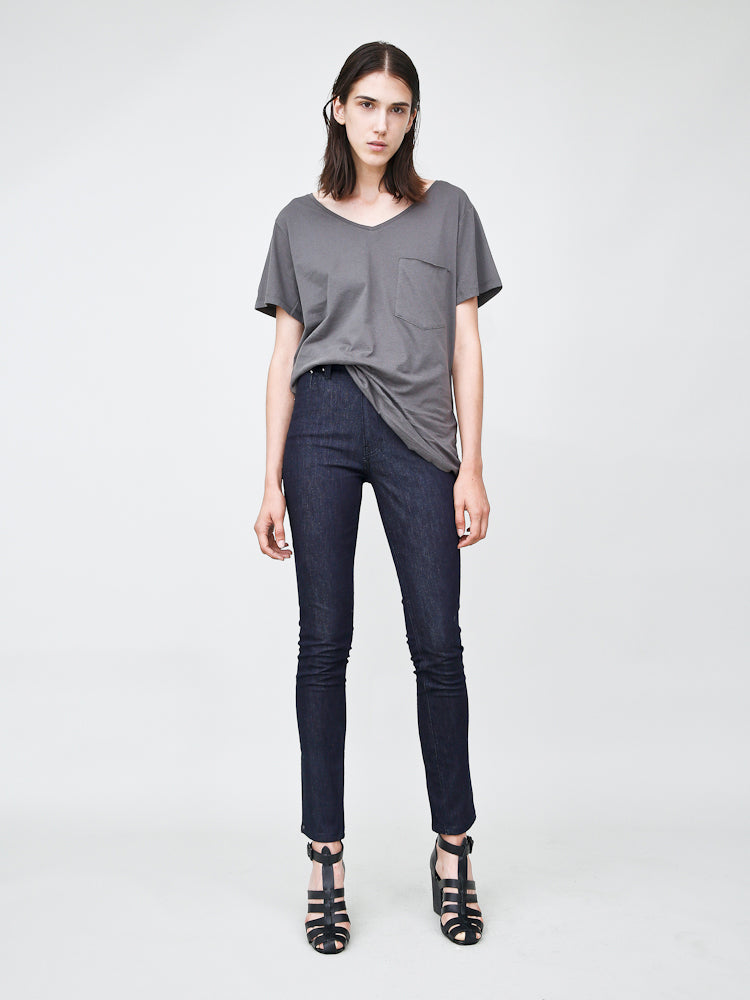 oak high skinny jean in indigo denim