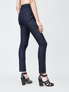 oak high skinny jean in indigo denim in Indigo by Oak