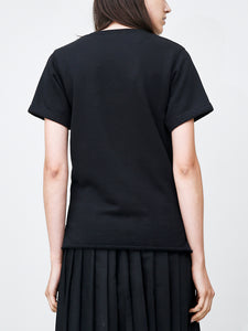 Short Sleeve Crew in Black by Oak OOS
