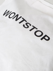 Wontstop Tote in WHT/BLK by Oak
