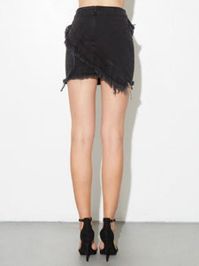 Zipper Skirt in Black by A/OK OOS