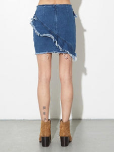 Zipper Skirt in Denim by A/OK OOS