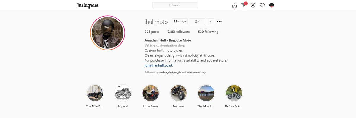 # Jhull moto instagram page