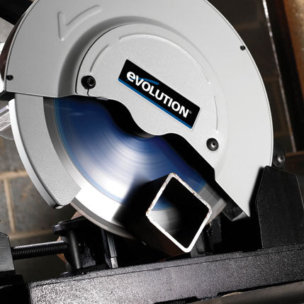 355mm Chop Saw With Six Blades Bundle - Evolution Power Tools