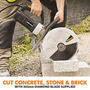 12 Inch Electric Disc Cutter With Diamond Blade - Evolution Power Tools