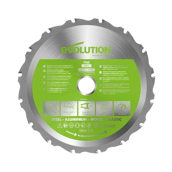 Evolution 165mm Multi-Material Cutting 14T Blade - Evolution Power Tools UK