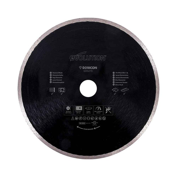 210mm Diamond Blade - Evolution Power Tools