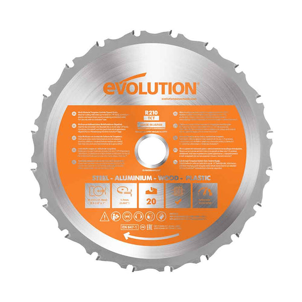 210mm Multi-Material Cutting 20 Tooth Blade (Refurbished - Like New) - Evolution Power Tools