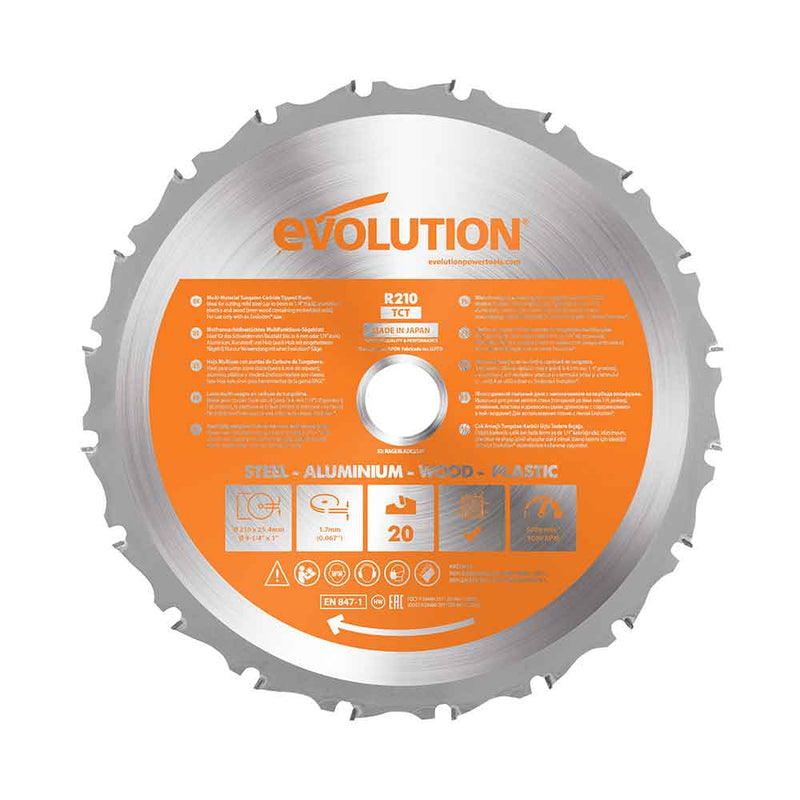 Evolution 210mm Multi-Material Cutting 20 Tooth Blade (Pre-owned & Refurbished - Like New) - Evolution Power Tools UK
