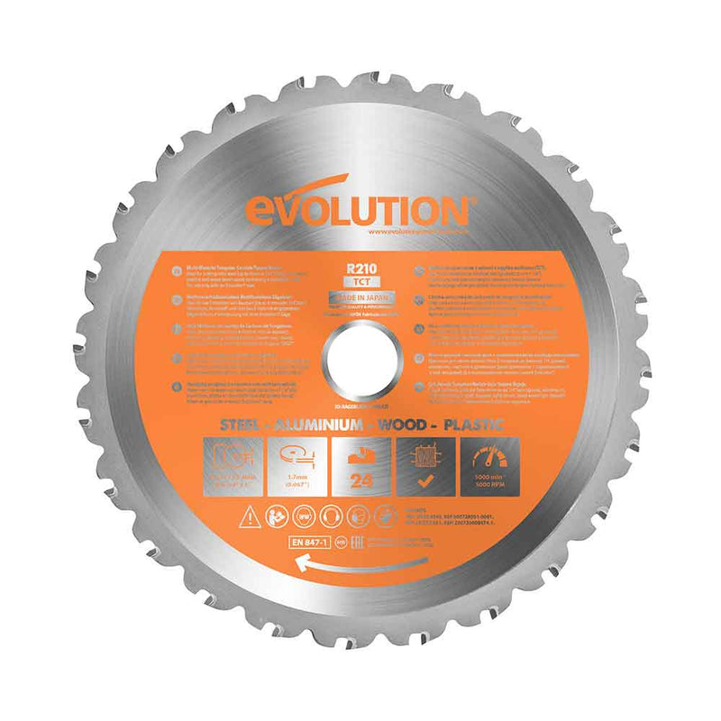 Evolution 210mm Multi-Material Cutting 24T Blade - Evolution Power Tools