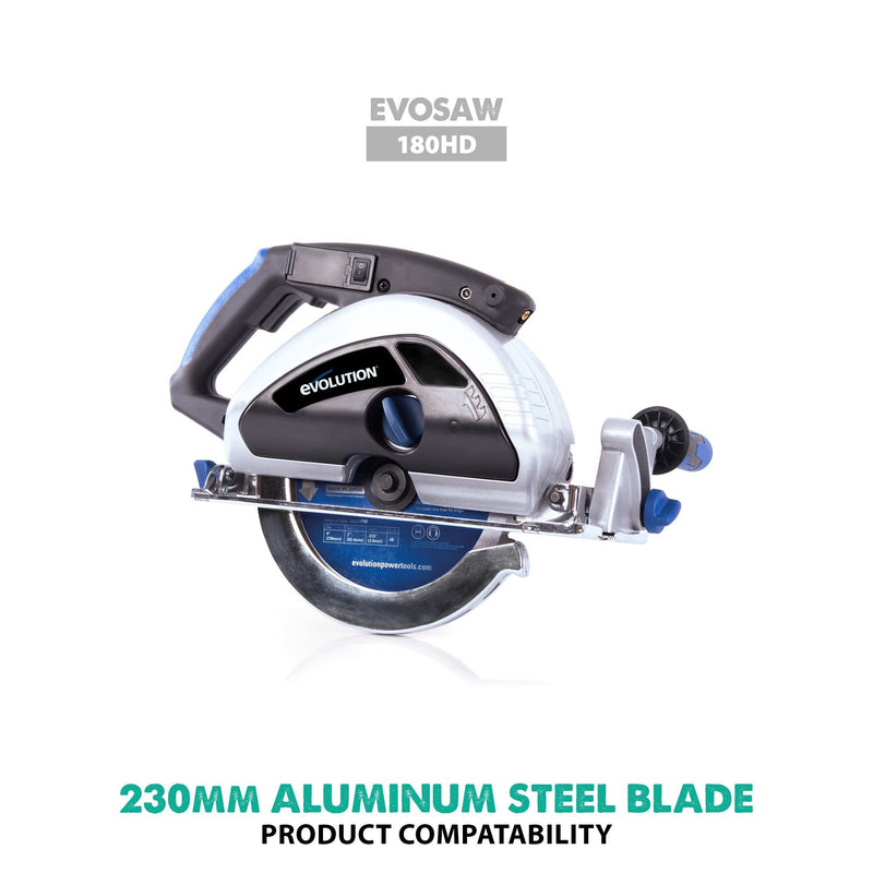 Evolution Evolution 230mm Aluminium Cutting 80T Blade - Evolution Power Tools