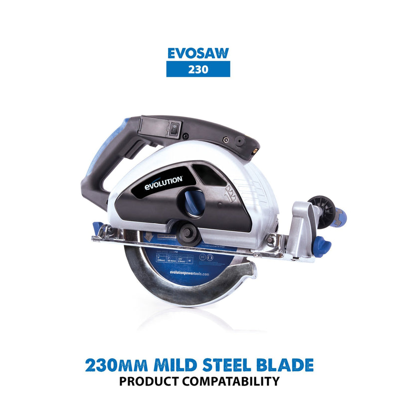 230mm Mild Steel Cutting 48T Blade - Evolution Power Tools