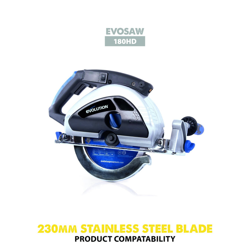 Evolution 230mm Stainless Steel Cutting 60T Blade - Evolution Power Tools