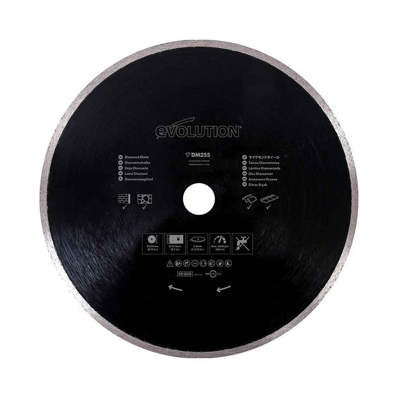 255mm Diamond Blade - Evolution Power Tools