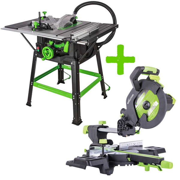 255mm Table Saw & 255mm Mitre Saw Bundle (230v) - Evolution Power Tools