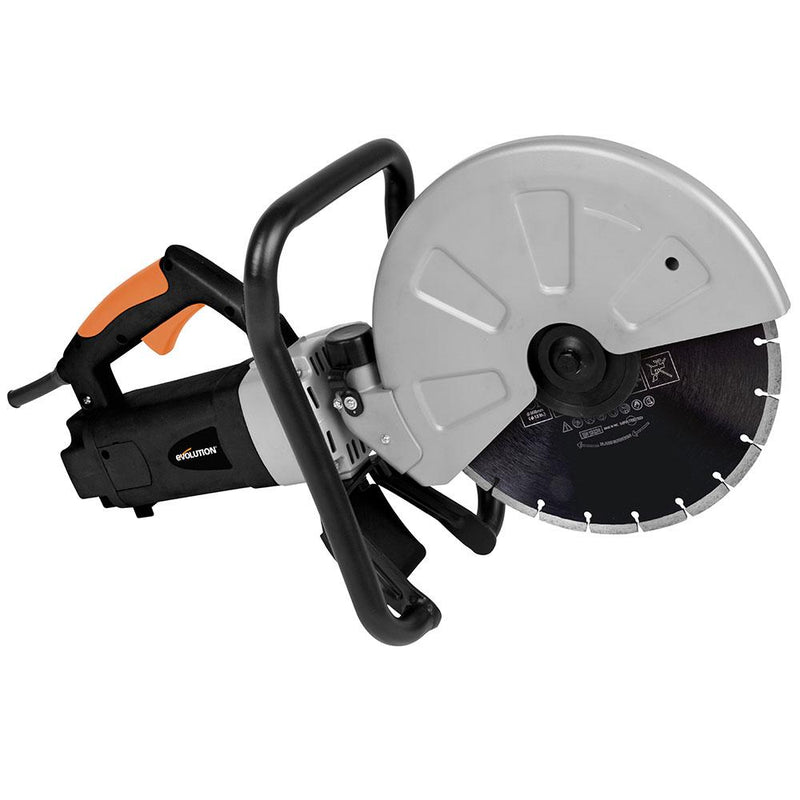 Electric Disc Cutter With 305mm Diamond Blade - Evolution Power Tools