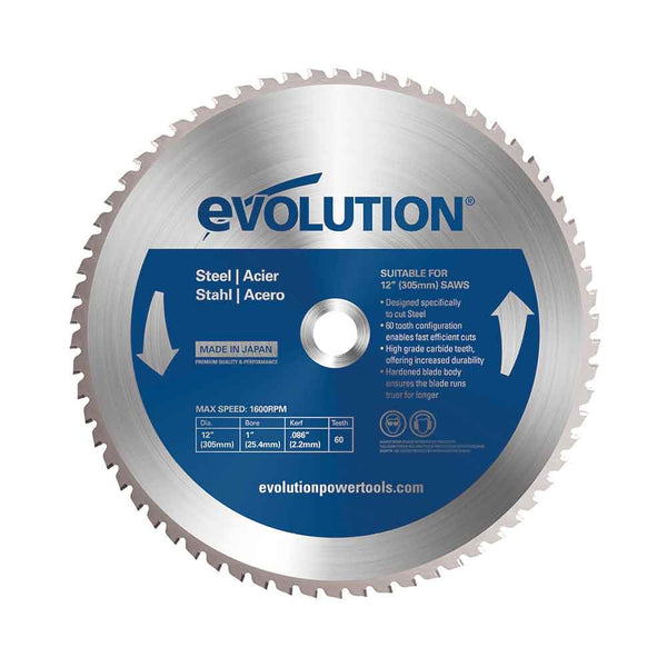 305mm Mild Steel Cutting 60T Blade - Evolution Power Tools