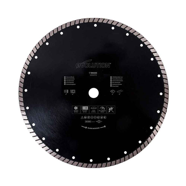 355mm Diamond Blade - Evolution Power Tools