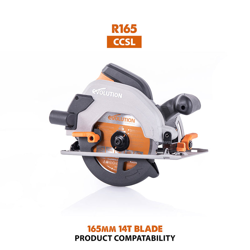 165mm Multi-Material Cutting 18T Blade - Evolution Power Tools