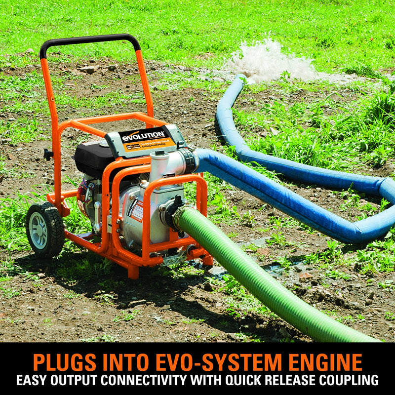 Evolution Evo-System 1000L/Min Dirty Water Pump Output - Evolution Power Tools UK