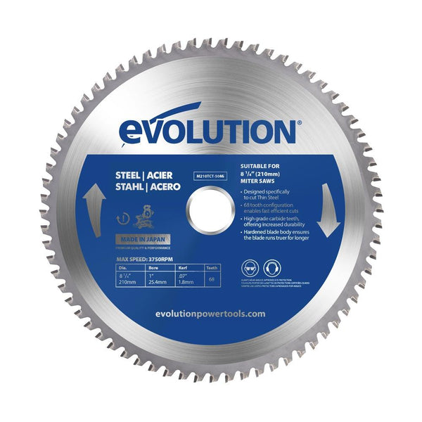 Evolution 210mm Mild Steel Blade 50T - Evolution Power Tools