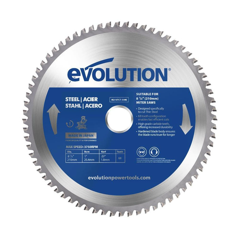 Evolution 210mm Mild Steel Blade 50T - Evolution Power Tools UK