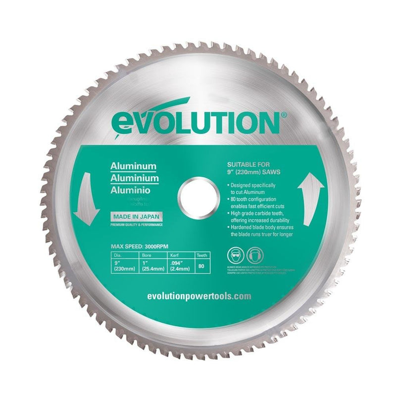 Evolution 230mm Aluminium Cutting 80T Blade - Evolution Power Tools UK