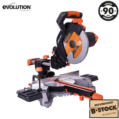255mm Sliding Mitre Saw With TCT Multi-Material Cutting Blade (Refurbished - Like New) - Evolution Power Tools