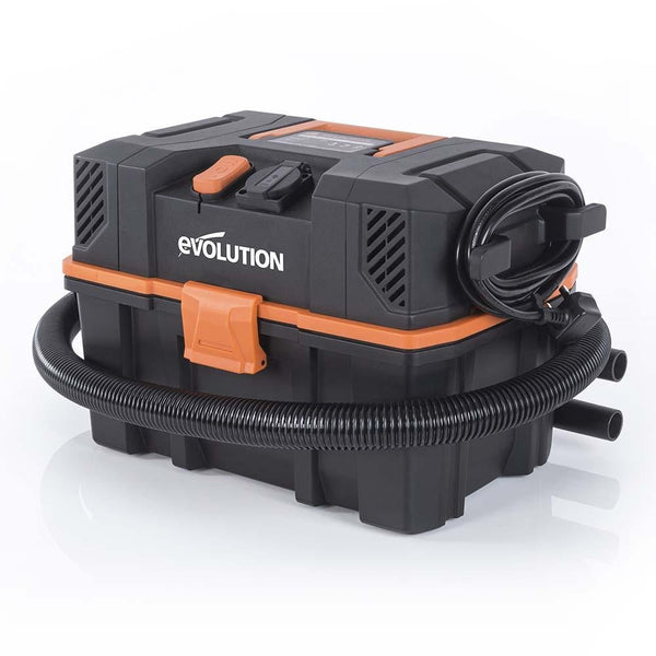 Evolution R15VAC 1000 Watt Wet & Dry Workshop Vacuum Cleaner With Power Take-off - Evolution Power Tools UK