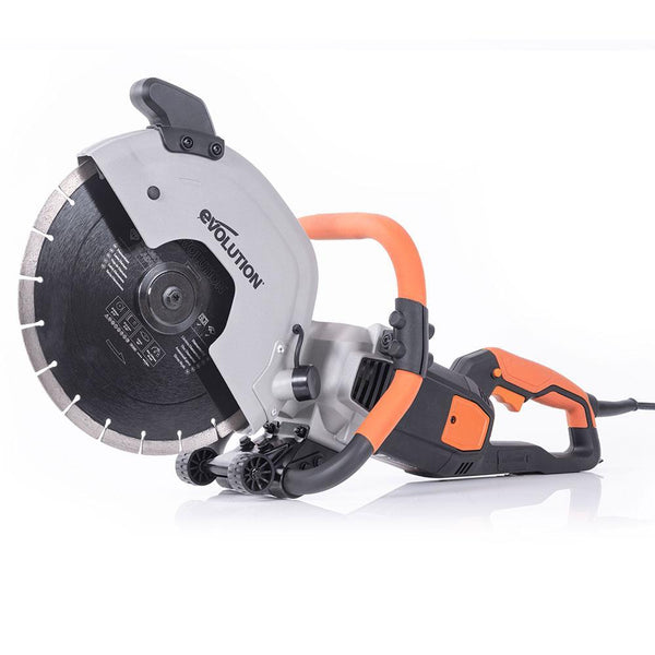 "Evolution R300DCT 300mm 12"" Electric Disc Cutter, Concrete Saw, with Diamond Blade - Evolution Power Tools UK"