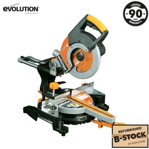 Evolution RAGE3 255mm Sliding Mitre Saw (B-Stock) - Evolution Power Tools Ltd.