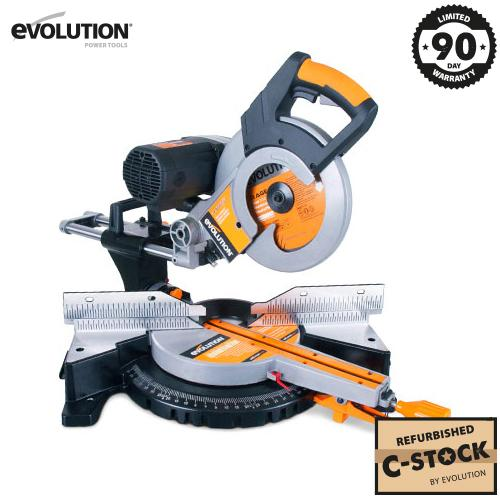 RAGE3-DB 255mm Double Bevel Sliding Mitre Saw (Refurbished Fair Condition) - Evolution Power Tools