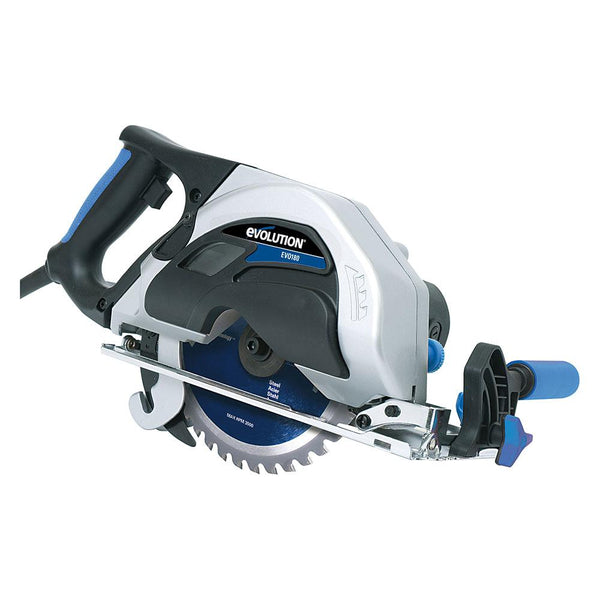 EVOSAW180HD - 180mm Circular Saw with TCT Mild Steel Cutting Blade (Discontinued) - Evolution Power Tools