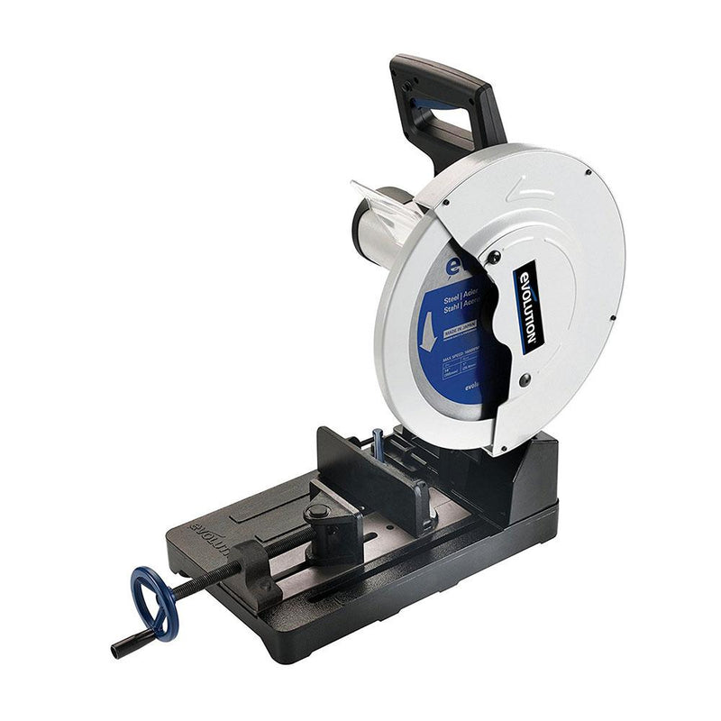 Evolution EVOSAW355 - 355mm Chop Saw with TCT Steel Cutting Blade (Discontinued) - Evolution Power Tools UK