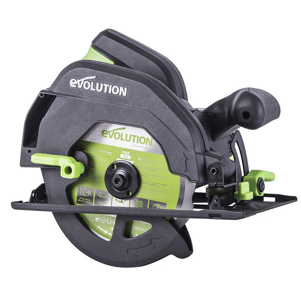 Evolution F165CCSL - 165mm Circular Saw with TCT Multi-Material Cutting Blade (230v) - Evolution Power Tools