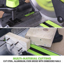 F255SMS - 255mm Sliding Mitre Saw With TCT Multi-Material Cutting Blade (230v) - Evolution Power Tools
