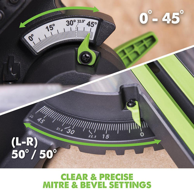 F255SMS - 255mm Sliding Mitre Saw (230v) - Evolution Power Tools