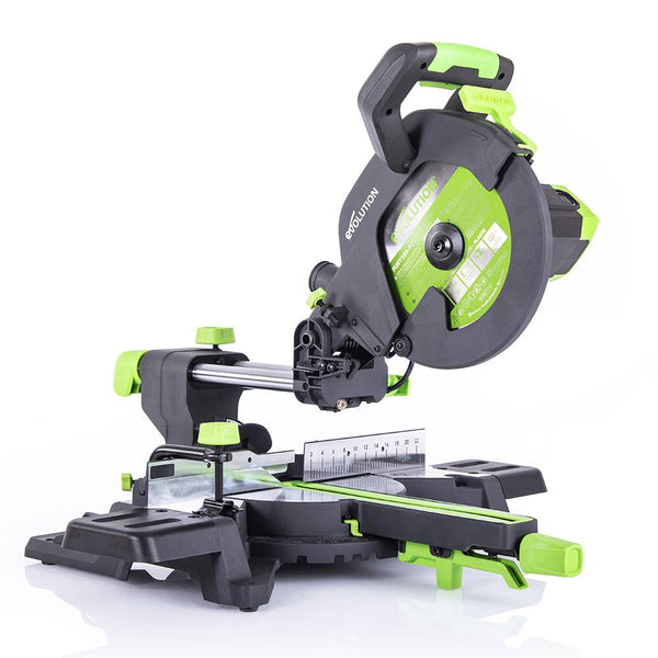 Evolution F255SMS 255mm Sliding Mitre Saw With TCT Multi-Material Cutting Blade (230v) - Evolution Power Tools