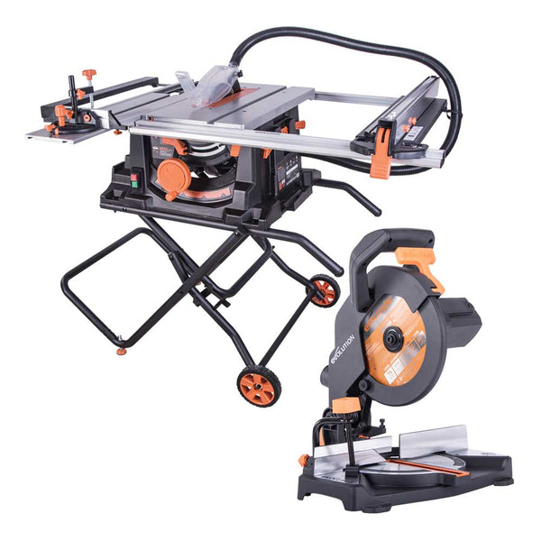 FREE compound mitre saw worth £75 with RAGE5-S Table Saw. Black Friday - Cyber Monday Deal. - Evolution Power Tools UK