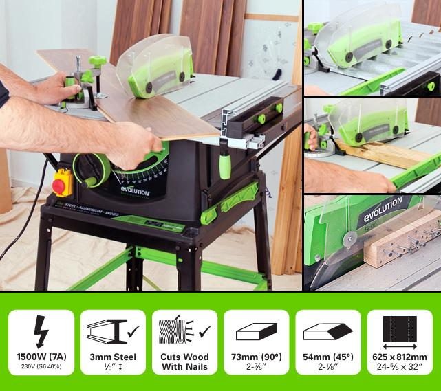 Evolution FURY5 255mm Table Saw (Discontinued) - Evolution Power Tools UK